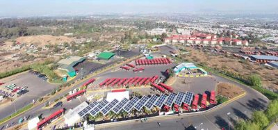 BYD's electric bus terminal at Penalonen in Chile