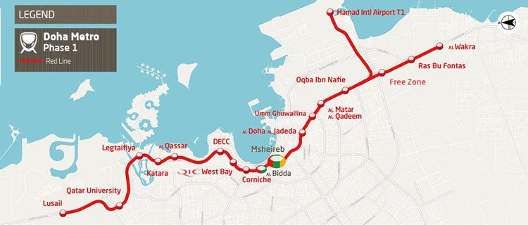 Doha Metro opens first phase of Red Line development ahead of schedule