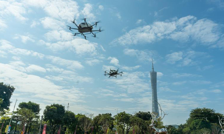 North Carolina hosts first U.S. flight of EHang autonomous aerial taxi