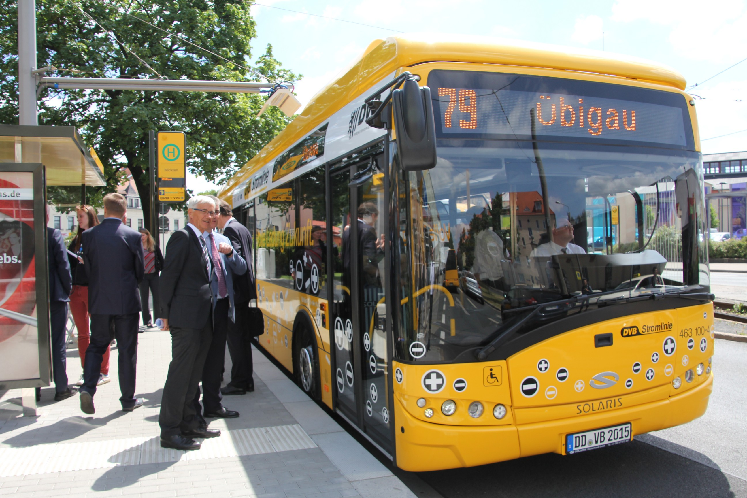 electric bus line 79 begins operation in dresden. Black Bedroom Furniture Sets. Home Design Ideas