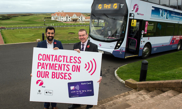 Contactless payments come to all First Glasgow buses