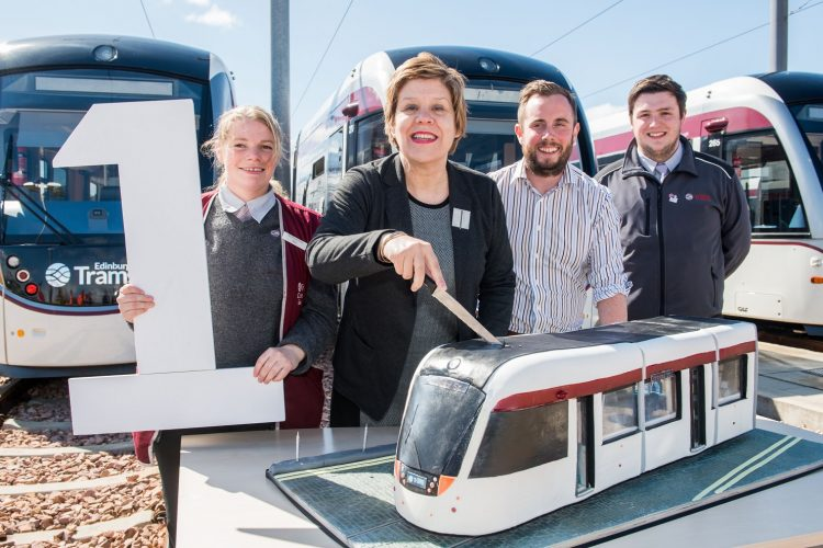 Five million journeys made on Edinburgh Trams in first year