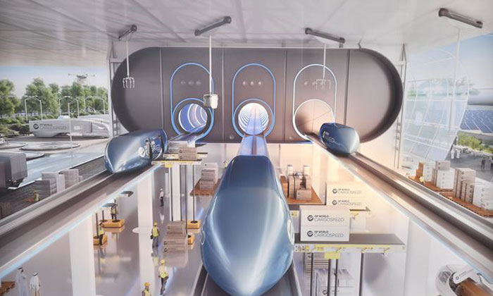 Hyperloop cargo system