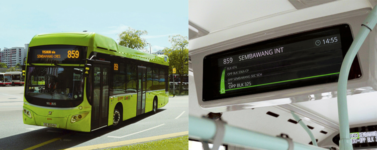 LECIP bus and ticket display
