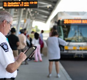 Handing real-time information to bus staff