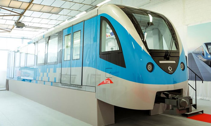RTA inspects progress and mock-up Route 2020 train for Dubai Metro