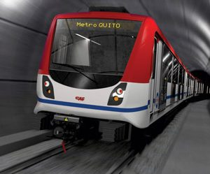 Quito Metro signs agreement for the supply of 18 six-car trains