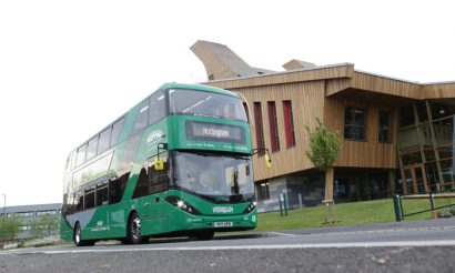 The world's largest fleet of gas-fuelled double-decker buses is introduced
