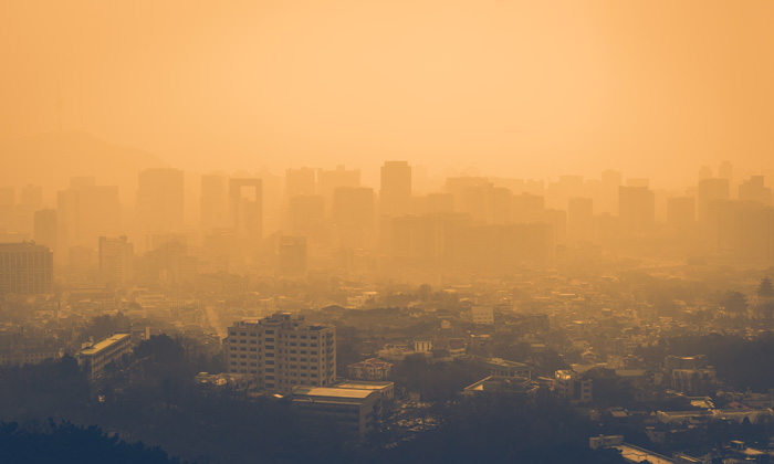 Seoul City invaded by dust from China