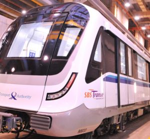 Vehicles for the third phase of Singapore's Downtown Line delivered
