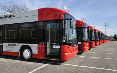 Stadtbus Winterthur: a strategy to keep up with growing demand