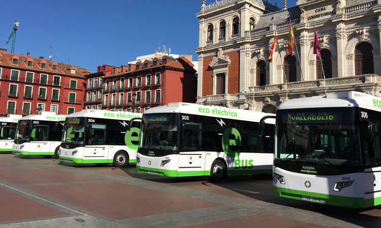 Valladolid's electrification of bus lines and the rollout of e-bus services