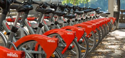 Velov bike rental system in Lyon France