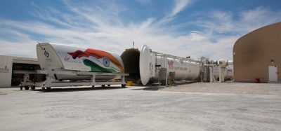 Virgin Hyperloop One's test pod in India