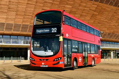 Volvo B5LH double deck buses