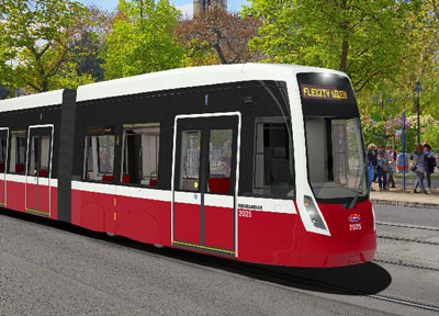Wiener Linien places order for 119 Bombardier FLEXITY trams