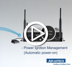 Advantech bus passengers information system video