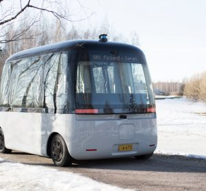 The first all-weather autonomous-driving bus debuts in Helsinki