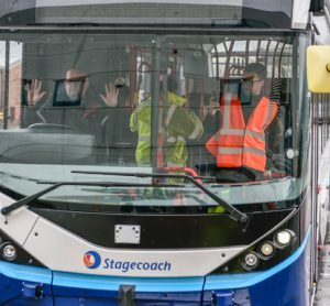UK's first full-sized autonomous bus begins depot trials