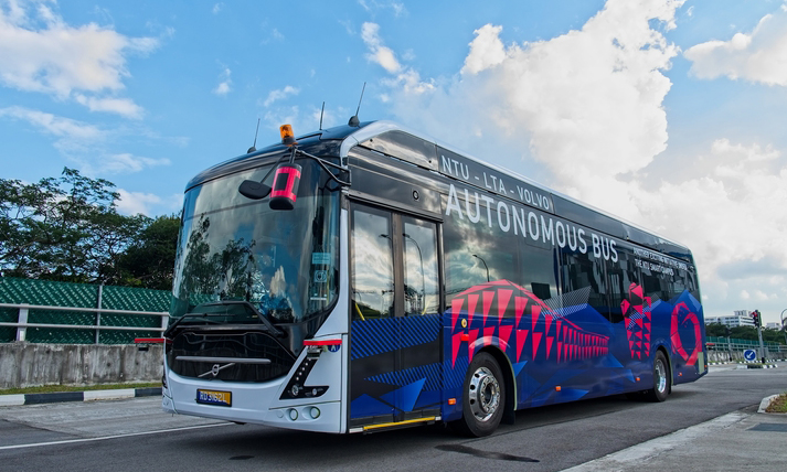 Singapore witnesses the world's first full-size, autonomous electric bus