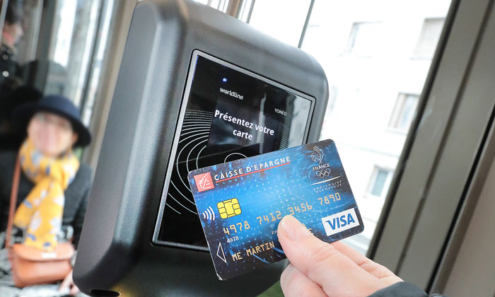 Contactless cards have become tickets for the first time in France