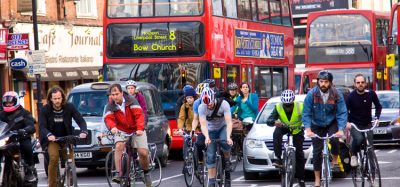 people cycling in London
