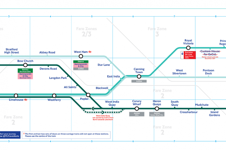 The Docklands Light Railway Celebrates Years Of Service - London dlr map