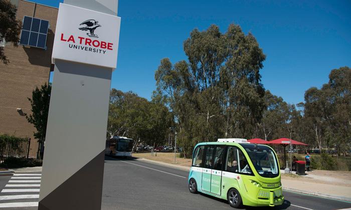 The La Trobe Autonobus trial will run from April to June 2018 at La Trobe's Bundoora Campus