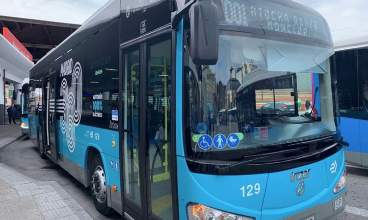 Madrid opens first free, zero emissions bus route