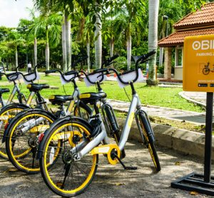 oBike station in Malaysia