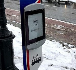 First smart bus stop in Japan delivered by E Ink and Papercast